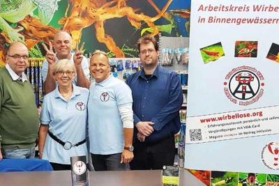 Die NRW-Regionalgruppe des AKWB informierte über die Wirbellosenhaltung. © M. J. Schönefeld